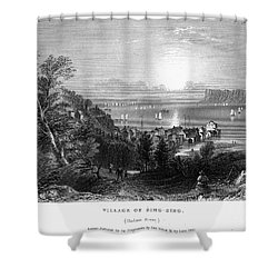 New York: Sing Sing Shower Curtain by Granger