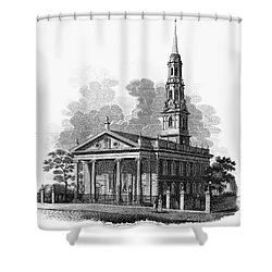 New York: St Pauls Church Shower Curtain by Granger