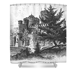New York State: Castle Shower Curtain by Granger
