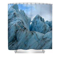 New Zealand Glacier Shower Curtain by JoAnne Rauschkolb