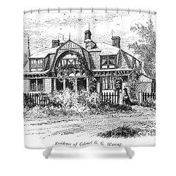 Newport: Villa, C1876 Shower Curtain by Granger