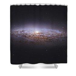 Ngc 2683, Unbarred Spiral Galaxy Shower Curtain by Robert Gendler