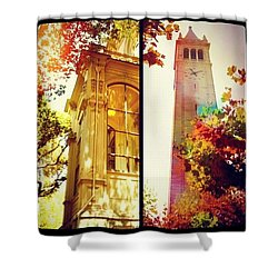 Nice Digs Near The Campanile - Uc Berkeley Ca Shower Curtain by Anna Porter