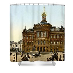 Nicolaus Copernicus Monument In Warsaw Poland Shower Curtain by International  Images