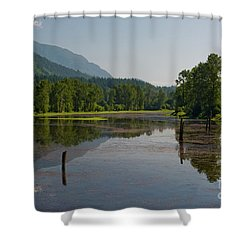 Nicomen Slough 2 Shower Curtain by Rod Wiens