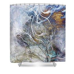 Night Blizzard Shower Curtain
