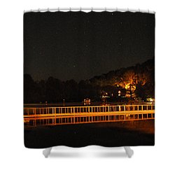 Night Bridge Shower Curtain by Kay Lovingood