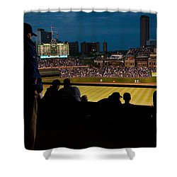 Night Game At Wrigley Field Shower Curtain