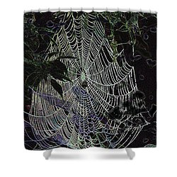 Shower Curtain featuring the photograph Night Lines by EricaMaxine  Price