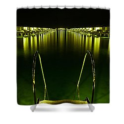 Night. One Day In Paradise. Maldives Shower Curtain by Jenny Rainbow