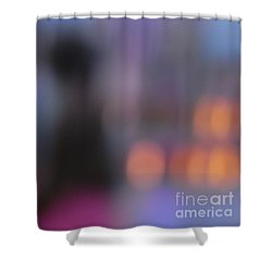 Shower Curtain featuring the photograph Imagine Nightfall At The Funfair by Andy Prendy