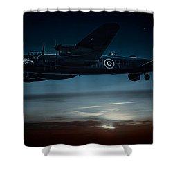 Nightflight Shower Curtain by Chris Lord