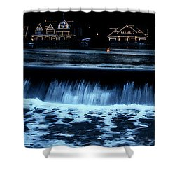 Nighttime At Boathouse Row Shower Curtain by Bill Cannon