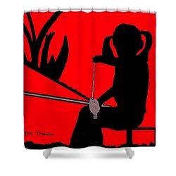 Nikki Shower Curtain by Melvin Moon