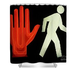 Shower Curtain featuring the photograph No Move by Newel Hunter