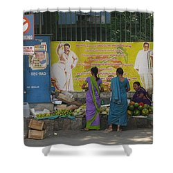 Shower Curtain featuring the photograph No Parking by David Pantuso
