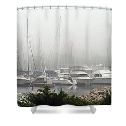 Shower Curtain featuring the photograph No Sailing Today by Kay Novy