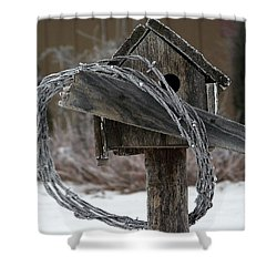 Nobody Home Shower Curtain by Dorrene BrownButterfield