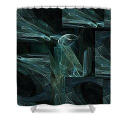 Noche Azul Shower Curtain