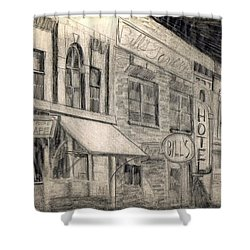 Noir Street Shower Curtain by Mel Thompson