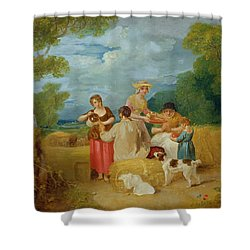 Noon Shower Curtain by Francis Wheatley