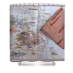 Normand's  Birch Bark  Shower Curtain by Danielle  Parent