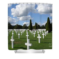 Normandy American Cemetery Shower Curtain by Carol Groenen
