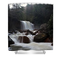 Shower Curtain featuring the photograph North Forks Waterfalls by Dan Friend