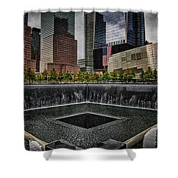 North Tower Memorial Shower Curtain by Chris Lord