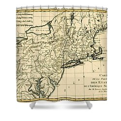 Northeast Coast Of America Shower Curtain by Guillaume Raynal