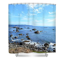 Shower Curtain featuring the photograph Northern California Coast3 by Zawhaus Photography