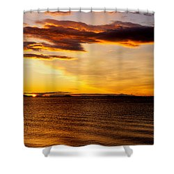 Northern Sunset Shower Curtain by Hakon Soreide