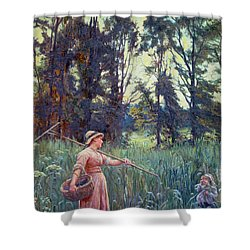 Not Far To Go Shower Curtain by Frederick Morgan