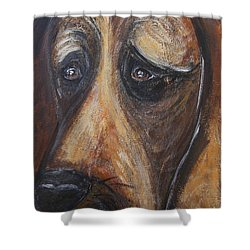 Nothin But A Hunddog Shower Curtain by Ania M Milo