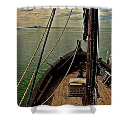 Notorious The Pirate Ship 6 Shower Curtain