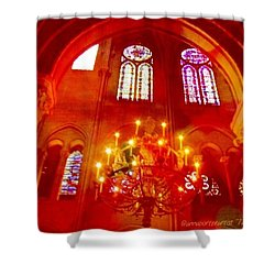 Notre Dame Cathedral - Paris France Shower Curtain by Anna Porter