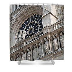 Shower Curtain featuring the photograph Notre Dame Details by Jennifer Ancker