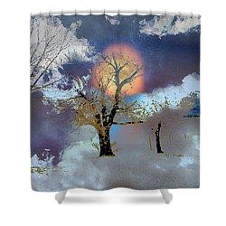 November Moon Shower Curtain by Lenore Senior