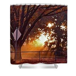 November Sunrise Shower Curtain by Bill Owen