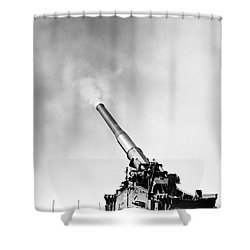 Nuclear Artillery, 1950s Shower Curtain by Granger