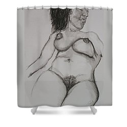 Nude At Rest Shower Curtain by Rand Swift