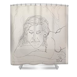 Nude Contour In Ink Shower Curtain