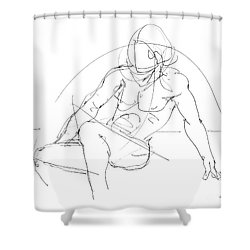 Nude-male-drawings-13 Shower Curtain