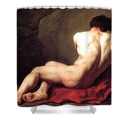 Nude Male Shower Curtain by Sumit Mehndiratta