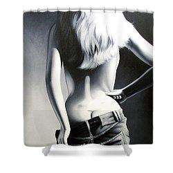 Nude Woman Shower Curtain by Sumit Mehndiratta