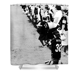 Number 1 Bettis Fan - Black And White Shower Curtain