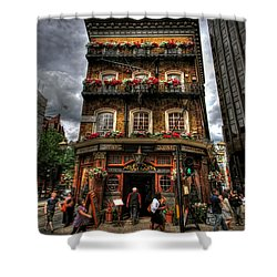 Number 52 Victoria Street Shower Curtain by Yhun Suarez