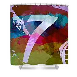 Number 7 Shower Curtain by Naxart Studio