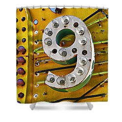 Number Nine Shower Curtain by Garry Gay