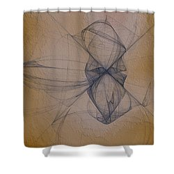 Shower Curtain featuring the digital art Nuoretta by Jeff Iverson